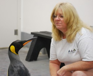 Diane Olsen with Chilly Willy King Penguin