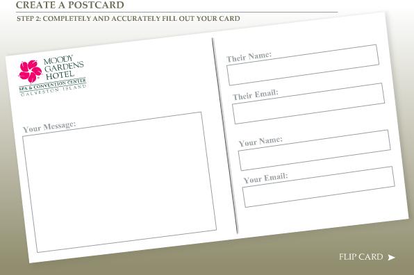 Use Moody Gardens' Website to Send a Postcard!