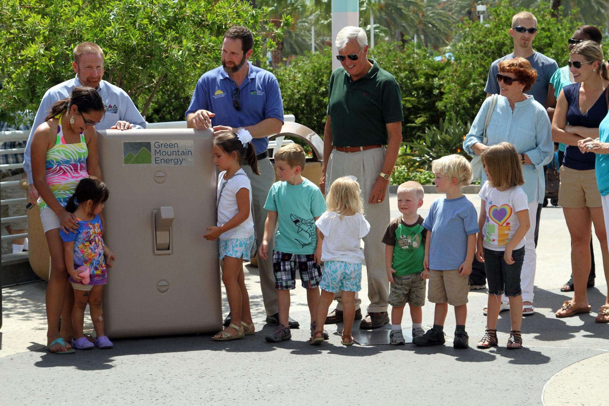 Tony Napolillo, Green Mountain Energy Sun Club program manager, talks about their program and their donation